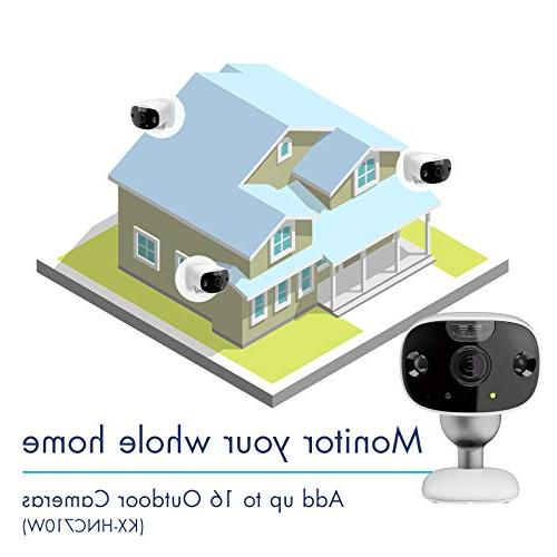 Camera Package Prevention, Kit, 172° Monitor, 100% Wire-Free, Color Night Way Talk,