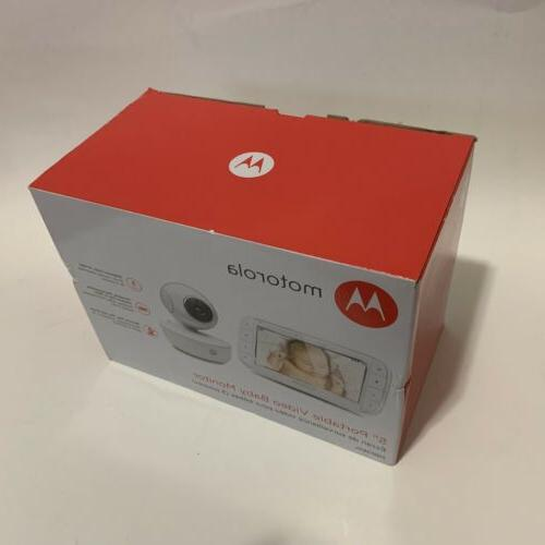 "Motorola MBP36XL 5"" Portable Video Baby Monitor with StarGri"