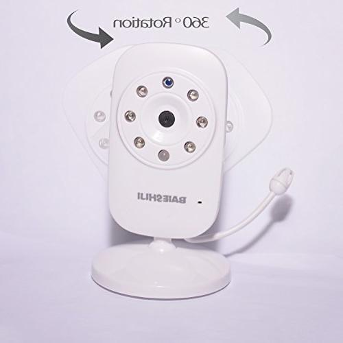 """Baby Monitor 3.5"""" Large Screen, Baby Monitors with Camera and Vision,Support Mode,Two Way Lullabies"""