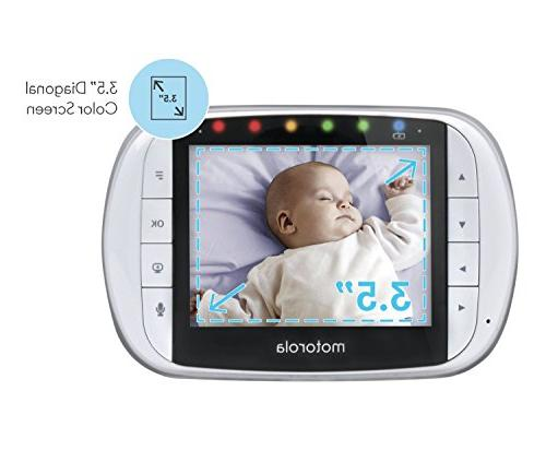 Motorola Video Baby Monitor with Inch LCD Remote Pan, Zoom