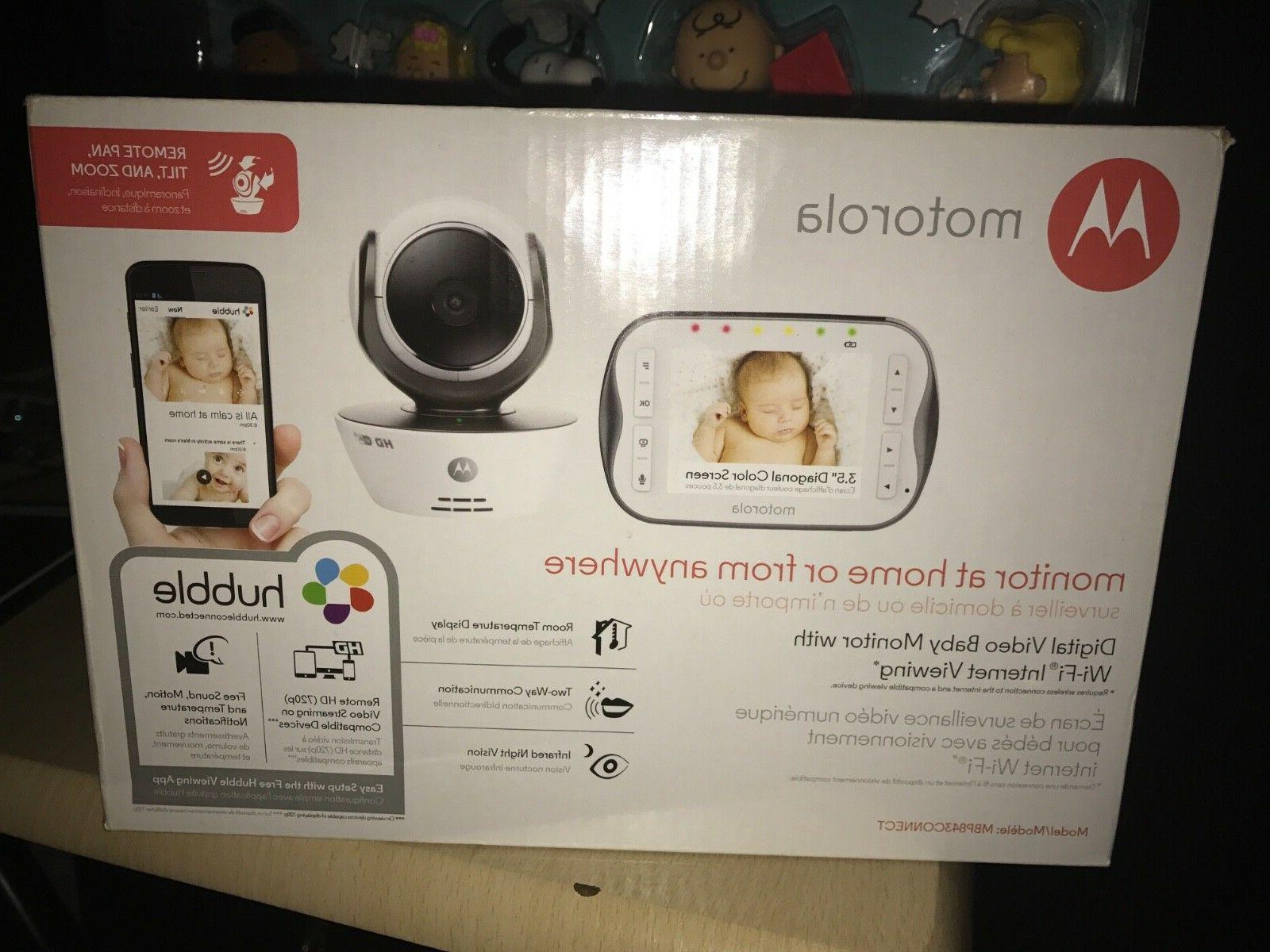 Motorola Digital Video Baby Monitor with Wifi Internet Viewi