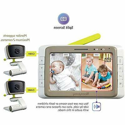 MoonyBaby Monitors Split Screen, Wide Angle, Two Cameras Sys