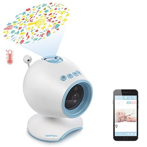 WiFi Monitor, P1 Camera Audio,Remote Baby Sleep with Soothing Projection,