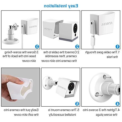 Frienda Skin Wyze Cam 1080p iSmart Alarm Camera, White 360 Degree Protect from