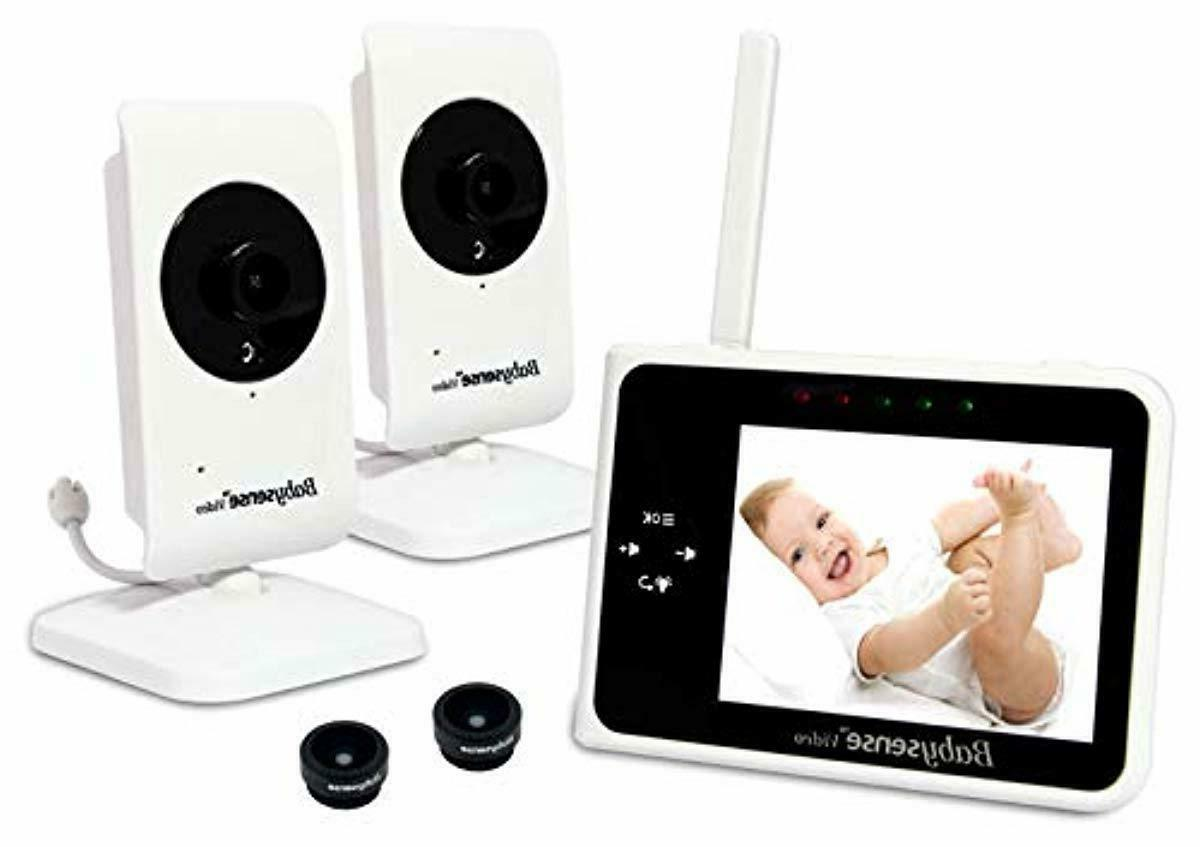 video baby monitor 3 5 with two