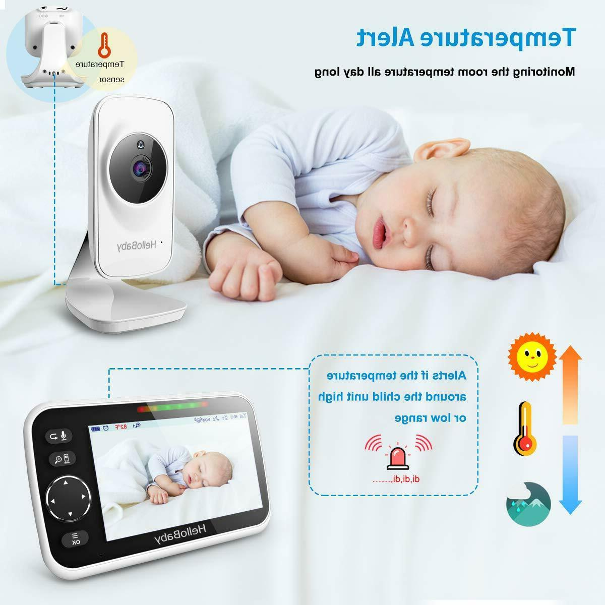 HelloBaby HB50 LCD Screen, Infrared Night V...