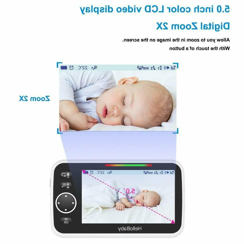 HelloBaby HB50 Video LCD Screen, Infrared V...