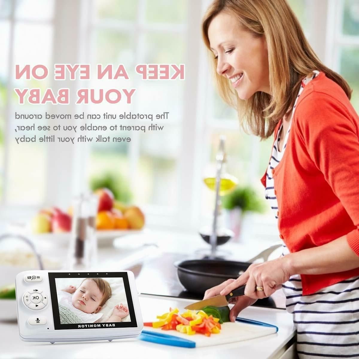 ENSTER Baby Monitor with Two-Way Audio, Inch Screen