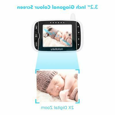 HelloBaby Video Baby with Remote Camera Pan-Tilt-Zoom, 3.2'' LCD