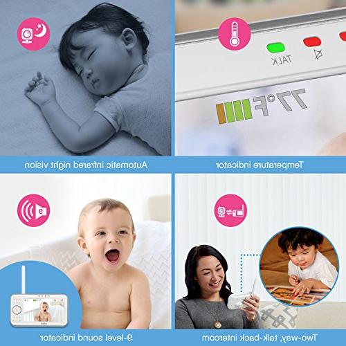 Monitor with Motorized Lens with Optical & Lullabies, Temperature Sensor & 1,000 of Range
