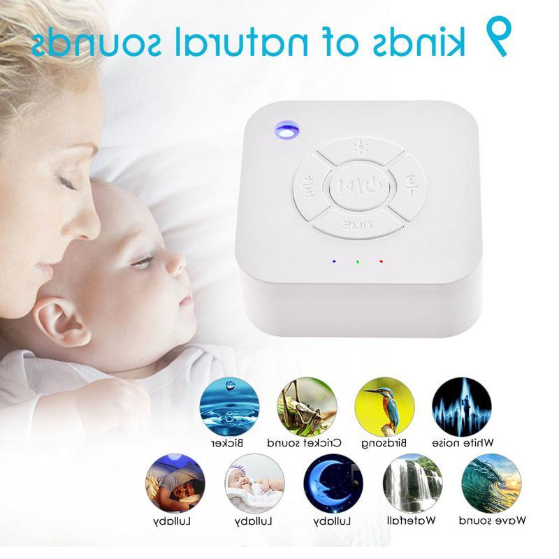 White <font><b>USB</b></font> Rechargeable Sound Machine For Relaxation For <font><b>Baby</b></font> Office Travel