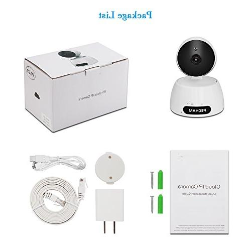 PECHAM 960P Security Camera, Camera Monitor Motion Detection, Night Way Viewing by Smartphone Home Business