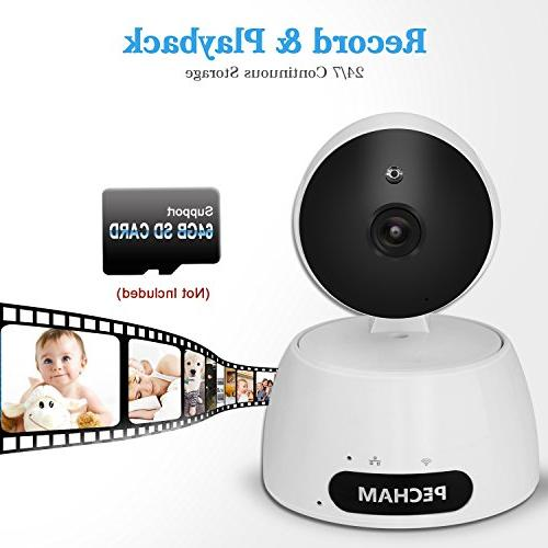 Security Camera, Wireless Camera Monitor with Motion Way Remote Viewing by Smartphone App Home Business