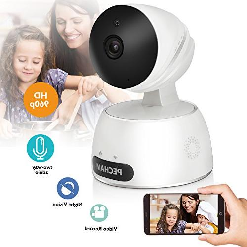 Security Camera Motion Detection, Night Vision,2 Way Audio, Remote by for Home and