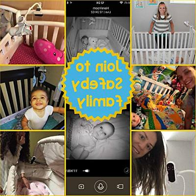 Safeby Video Baby Monitor With Camera Crib Mount It App