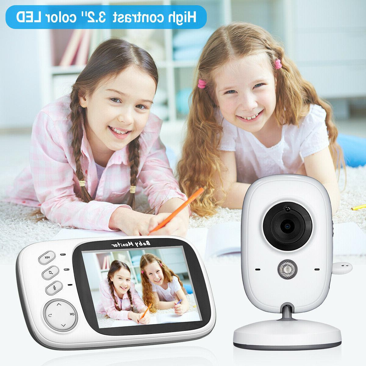 "Video Baby Monitor Camera 2-Way Talk 3.2"" Digital Wireless N"
