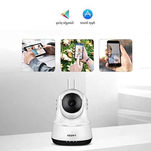Wireless Monitor, IP Camera 720P IP Home Camera with Two-Way Talking,Infrared Tilt