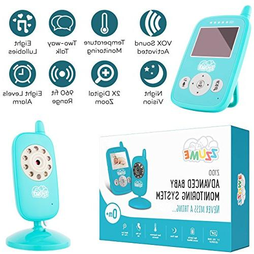 Baby - Camera Monitor - Baby Lights Color Infant Baby Monitor with Night Vision - Sensor Two Talkback Lullabies