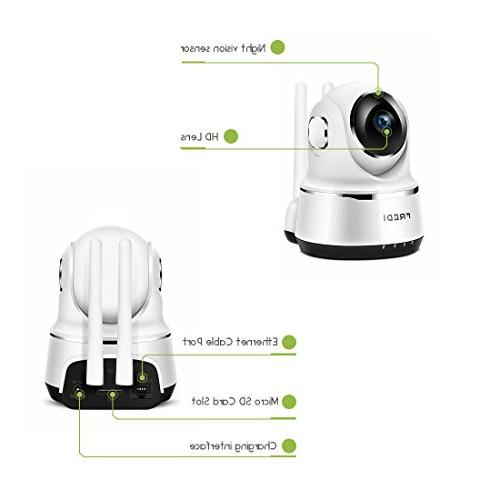 Wireless IP Camera 720P Security IP with Two-Way Talking,Infrared Night Tilt