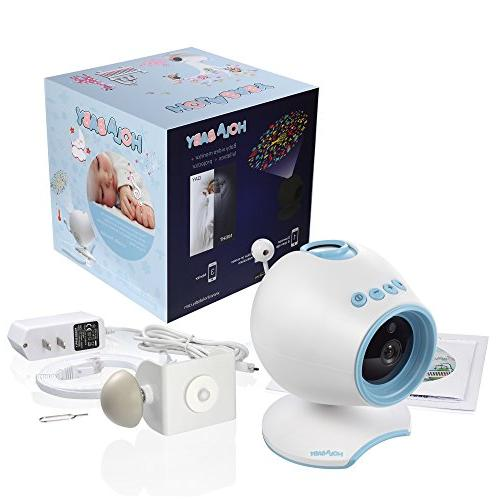 WiFi Monitor, HOLABABY P1 Video Camera Way Audio,Remote with Soothing Projection, Temperature