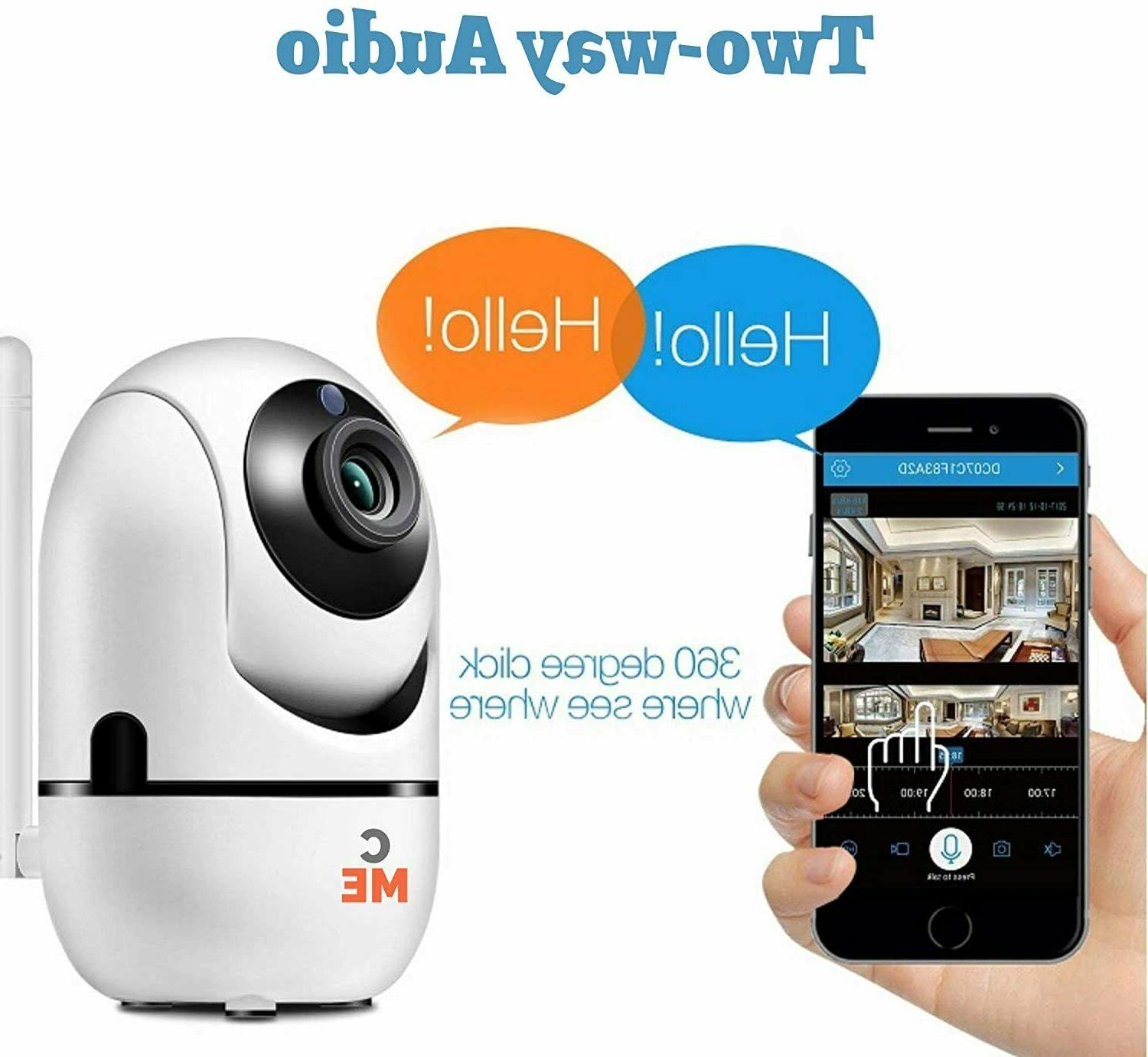 1080P Wireless Indoor WiFi Smart Security Nanny Monitor Pet