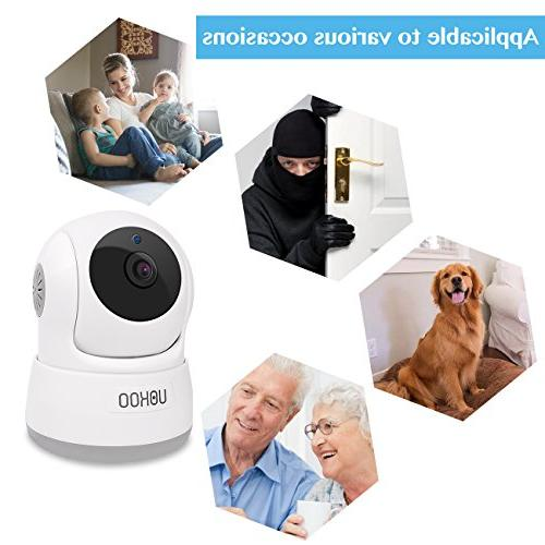 Wireless Security 720P HD Home WiFi Wireless Surveillance Camera with Motion Detection Pan/Tilt, 2 Audio and Night Vision Baby Monitor, Nanny