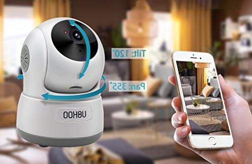 Wireless UOKOO 720P Wireless IP Security Camera Motion Detection Pan/Tilt, Way Audio Night Vision Baby Nanny