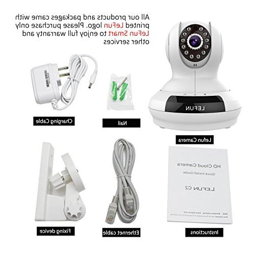 ALLFOR Wireless/Wired IP Camera HD Two Pan Plug&Play Night Vision with Video Live