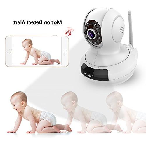 ALLFOR IP Surveillance 720P HD Audio Pan Night Vision with Remote Video Recording Live Streaming