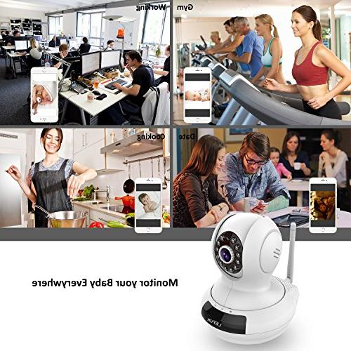 ALLFOR Wireless/Wired WiFi Cloud IP Camera HD Two Pan Vision with Video Live