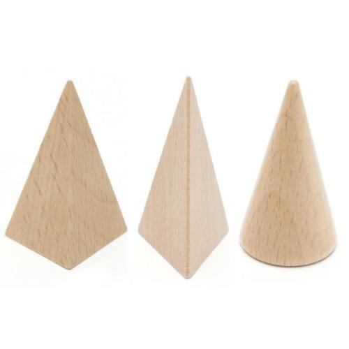 Wooden Geometric 3-D Shapes Learning Resources Toys