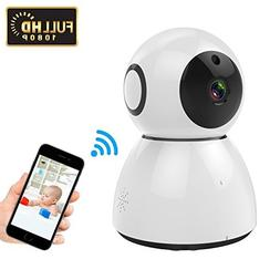 LeHome 1080P Home IP Camera 2MP HD Pan/Tilt/Zoom 2.4GHz WiFi