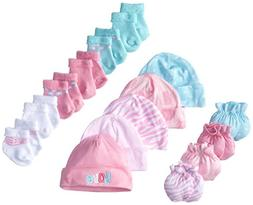 Gerber Baby Newborn Love 15 Piece Socks Caps and Mittens Ess