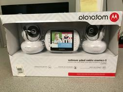 Motorola MBP36S-2 Video Baby Monitor with 2 Cameras, 3.5 Inc