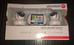 Motorola MBP36S-2 Video Baby Monitor with 2 Cameras 3.5 Inch