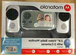 """Motorola MBP483-2 2.8"""" Video Baby Infant Monitor w/ Two Came"""