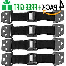 Metal Anti Tip Furniture Kit TV Safety Straps For Flat Scree