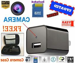 Mini Spy Hidden Camera USB Charger With Case |1080P HD| No