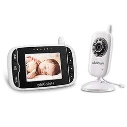 HelloBaby Video Baby Monitor with Infrared Night Vision Came