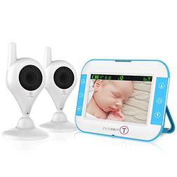 TimeFlys Video Baby Monitor TC500 2 Cameras 5 inch LCD Vibra