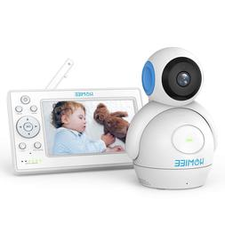 "HOMIEE 720P Video Baby Monitor, 5"" Color LCD Display and 100"