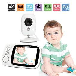 Baby Monitor 3.2inch LCD Video Audio Baby Monitors with Nigh