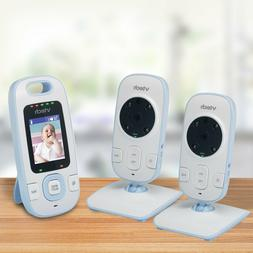2x Video Baby Monitor Infant Camera Digital Color Video Audi