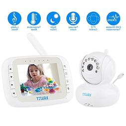 Video Baby Monitor with Camera - Motorized 270° Pan with a