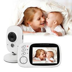 Highwing Video Baby Monitor Wireless Night Vision Color LCD