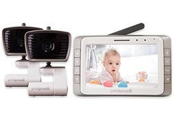 MoonyBaby 5 inches LCD big screen video baby monitor 2 camer