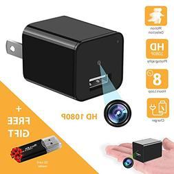 HD 1080P Motion Detection USB Wall Charger Camera Plug Adapt