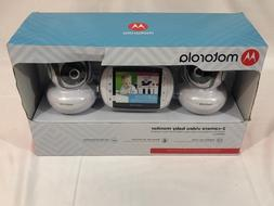 New Motorola 2-Camera Video Baby Monitor 3.5 Inch Color Scre