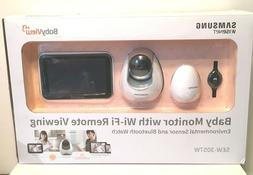 NEW Samsung Wisenet Baby Monitor w/Wi-Fi Remote Viewing + Ha