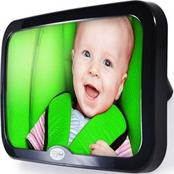 Safe Baby Tech Baby Car Mirror Crystal Clear Reflection Adju
